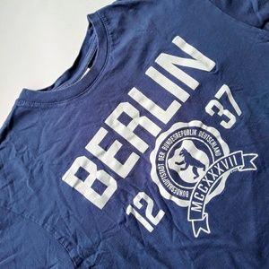 FOX Berlin Tee Shirt Blue Size Medium